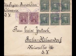 Bolivia 1914: cover Cochabamba via Tupiza -Buenos Aires to Berlin