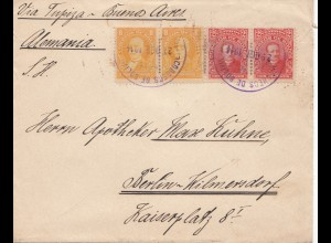 Bolivia/Bolivien: 1914: cover Cochabamba via Tupiza -Buenos Aires to Berlin