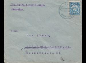 Bolivia/Bolivien: 1921: cover Cochabamba via Tupiza -Buenos Aires to Berlin