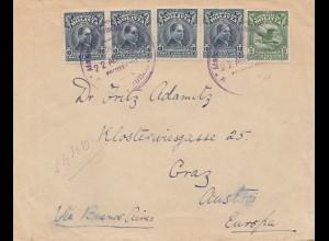 Bolivia/Bolivien: 1920 cover to Graz/Austria via Buenos Aires