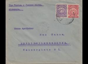 Bolivia/Bolivien: 1923: Cochabamba to Berlin/Germany