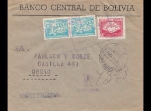 Bolivia/Bolivien: Registered to Oruro 1949