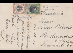 Bolivia/Bolivien: 1910 Post card to Germany - Bischofwerda