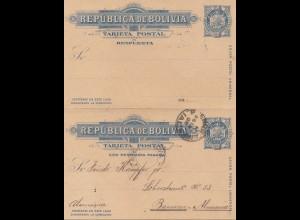 Bolivia/Bolivien: 1898 post card to Barmen/Germany