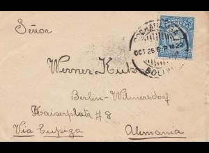 Bolivia/Bolivien: 1922: Cochabamba via Buenos Aires to Berlin