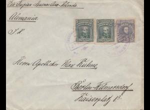 Bolivia/Bolivien: 1915: Cochabamba via Buenos Aires to Berlin