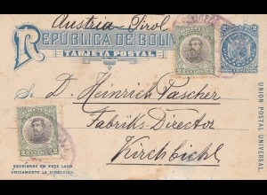 Bolivia/Bolivien: 1910 Santa Cruz - Post card Misionero