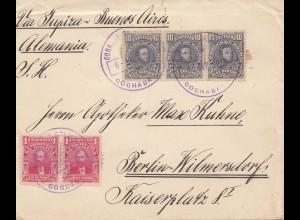 Bolivia/Bolivien: 1914: cover Cochabamba via Buenos Aires to Berlin/Germany