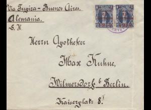 Bolivia/Bolivien: 1912 Cochabamba / Buenos Aires to Berlin / Germany