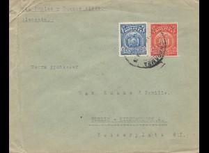 Bolivia/Bolivien: 1928 cover Cochabamba via Buenos Aires to Berlin/Germany