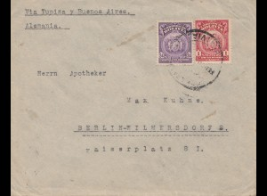 Bolivien: 1925 cover Cochabamba via Buenos Aires to Berlin/Germany