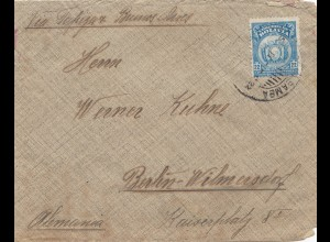 Bolivia/Bolivien: 1922 cover Cochabamba via Buenos Aires to Berlin/Germany