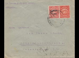 1924 cover Cochabamba via Buenos Aires to Berlin/Germany
