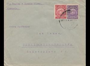 Bolivia/Bolivien: 1924 cover Cochabamba via Buenos Aires to Berlin/Germany