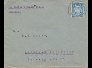 Bolivia 1921 cover Cochabamba via Buenos Aires to Berlin