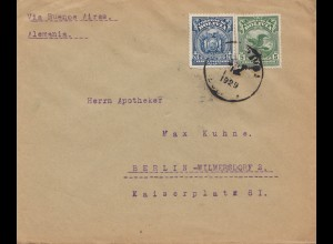 Bolivia/Bolivien: 1929 cover Cochabamba via Buenos Aires to Berlin/Germany