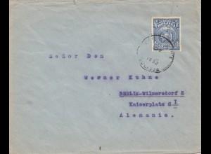Bolivia/Bolivien: 1930 cover Cochabamba via Buenos Aires to Berlin/Germany