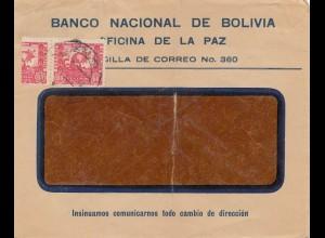 Bolivia/Bolivien: 1896 La Paz - Banco national