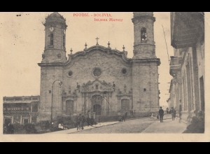 Bolivia/Bolivien: 1925: Post card Potosi to France