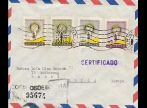 Bolivia 1961: Registered La Paz to Basel