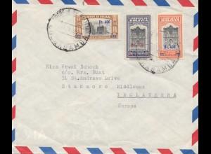 Bolivia/Bolivien: 1959: Registered Cochabamba to England