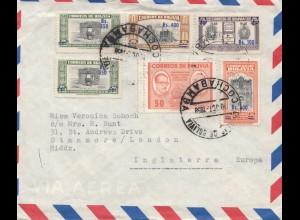 Bolivien: 1958: Registered Cochabamba to England
