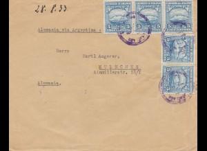 Bolivia/Bolivien: 1933 cover Potosi to München