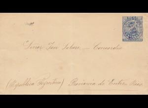 Bolivia/Bolivien: 1891: Cover to Argentina