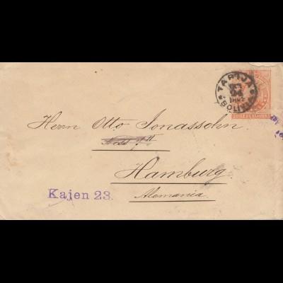 Bolivia/Bolivien: 1894: Tarija to Hamburg