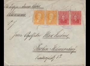 Bolivia 1914: cover Cochabamba via Buenos Aires to Berlin/Germany