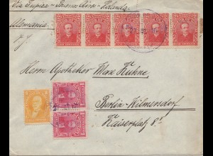 Bolivien: 1915: cover Cochabamba via Buenos Aires to Berlin/Germany