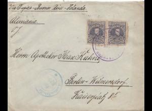 Bolivia/Bolivien: 1915: cover Cochabamba via Buenos Aires to Berlin/Germany