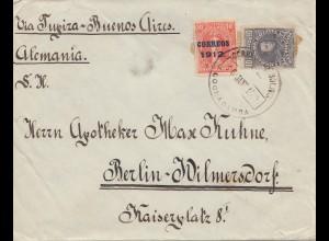 Bolivia: Cochabamba cover 1913 via Buenos Aires to Berlin/Germany