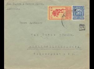 Bolivia/Bolivien: 1926: cover Cochabamba via Buenos Aires to Berlin/Germany