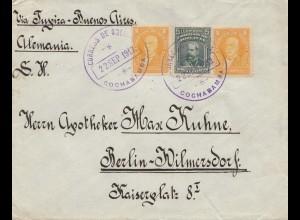 Bolivia 1913: Cochabamba via Buenos Aires to Germany