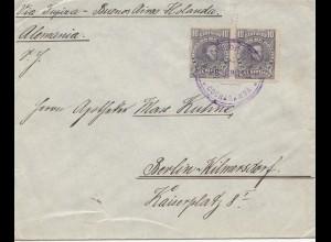 Bolivia 1915 cover Cochabamba via Buenos Aires to Berlin/Germany