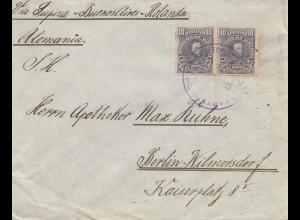 Bolivia Cochabamba via Buenos Aires to Berlin/Germany 1915