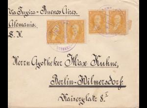 Bolivia/Bolivien: 1913 cover Cochabamba via Buenos Aires to Berlin/Germany
