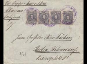 Bolivia/Bolivien: Cochabamba 1914 via Buenos Aires to Berlin/Germany