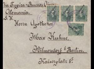 Bolivia/Bolivien: 1911 cover Cochabamba via Buenos Aires to Berlin
