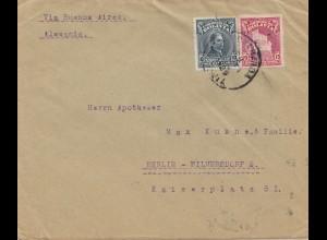 Bolivia/Bolivien: 1929 cover Cochabamba via Buenos Aires to Berlin