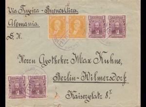 Bolivia/Bolivien: 1913 cover Cochabamba via Buenos Aires to Berlin