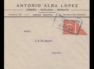 Bolivia/Bolivien: Oruro - Libreria, Papeleria, Imprenta to Atocha