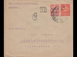 Bolivia/Bolivien: 1924 Cochabamba via Buenos Aires to Berlin/Germany