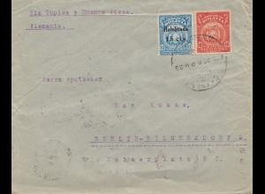 Bolivia: 1924 cover Cochabamba via Buenos Aires to Berlin/Germany