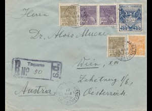 Brazil: 1938 Registered Taquaras to Wien/Austria