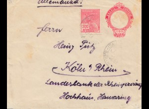 Brazil: Cover to Germany/Koeln
