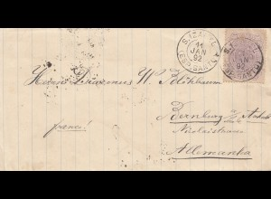 Brazil: 1892: cover to Bernburg/Germany