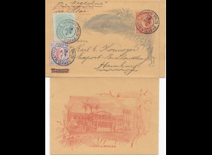 Brazil: 1892: post card Sec. Bahia/Salvador to Hamburg, incl. Text