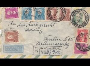 Brazil: 1960: Registered letter - Rio de Sul to Berlin